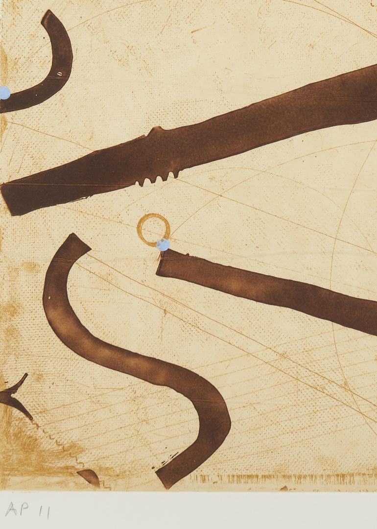 Lot 599: Caio Fonseca Abstract print, Seven String Etching, No. 10