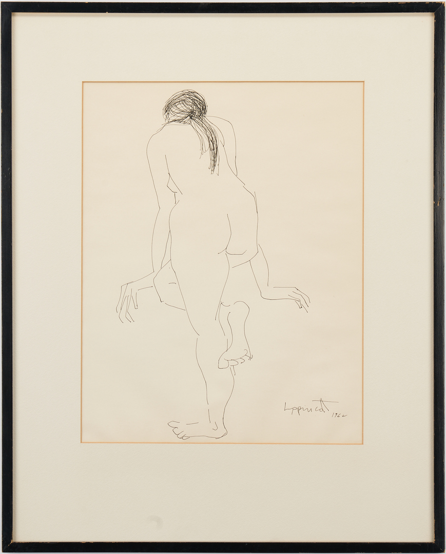 Lot 600: Janet Lippincott Pen and Ink Nude Drawings