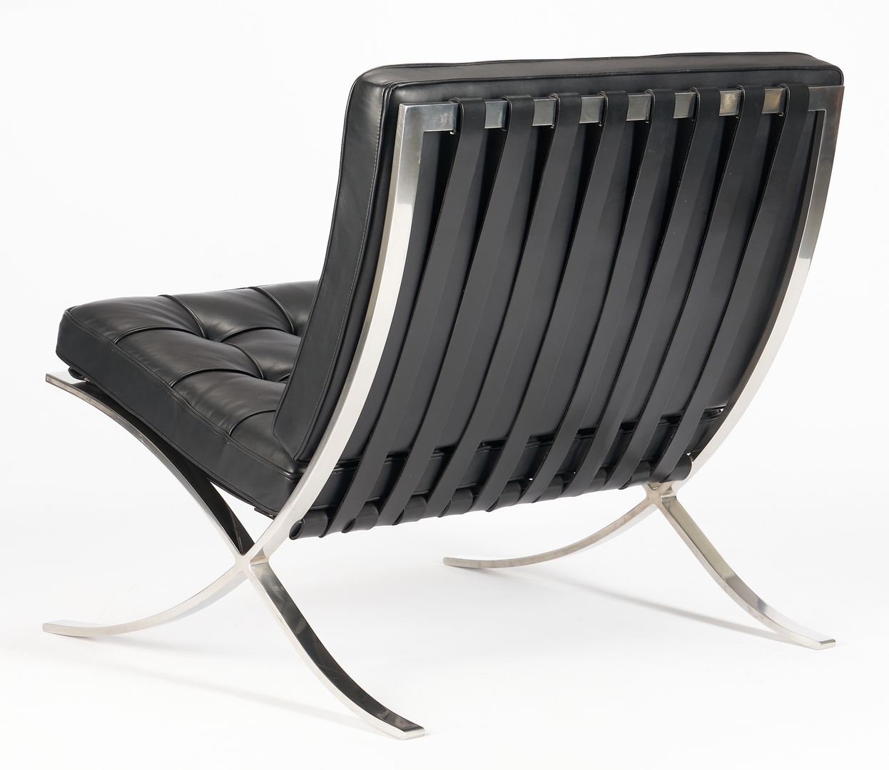 Lot 601: Pair Labeled Knoll Barcelona Chairs, Mies van der Rohe