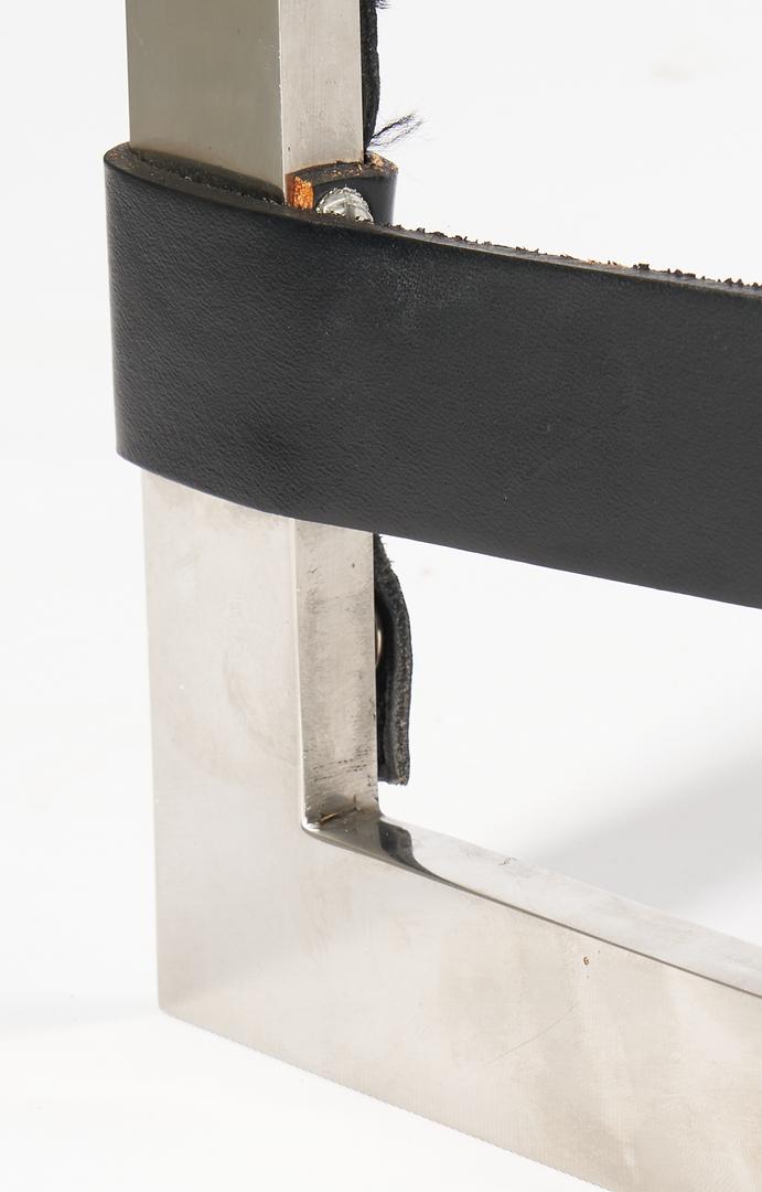 Lot 602: Pair Knoll Barcelona Chairs, Mies Van de Rohe