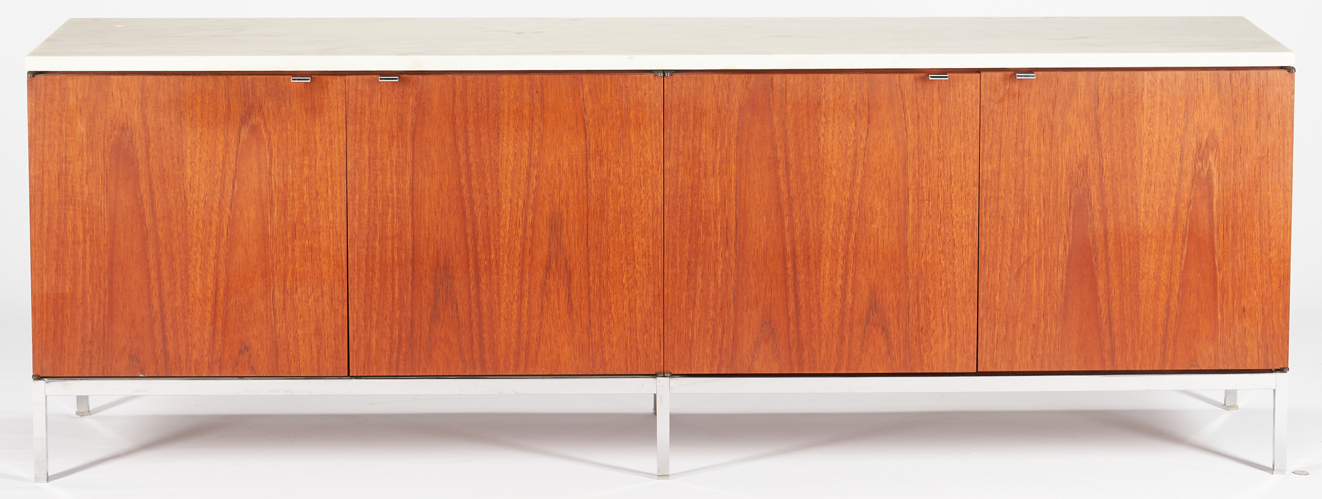 Lot 603: 1960's Mid-Century Florence Knoll Credenza w/ Marble Top