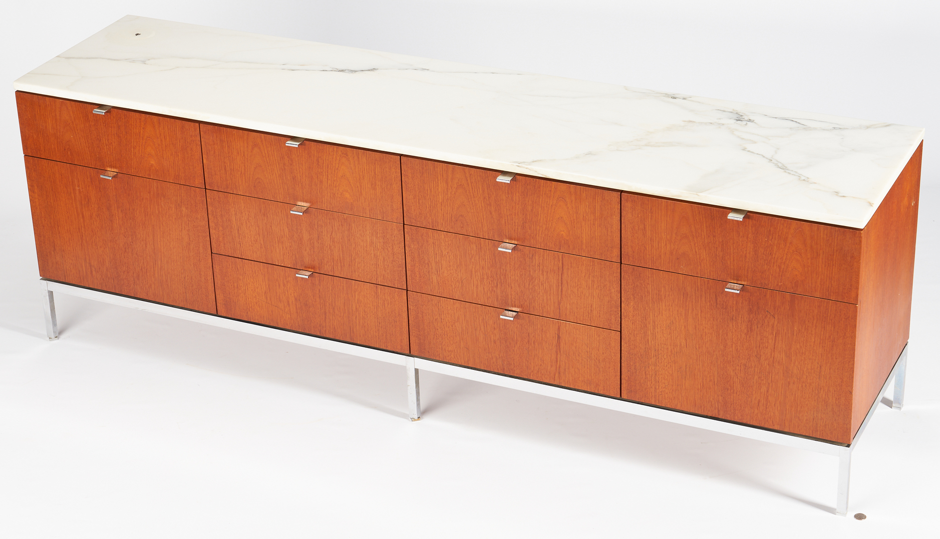 Lot 604: 1960s Labeled Knoll Credenza w/ Marble Top & Drawers