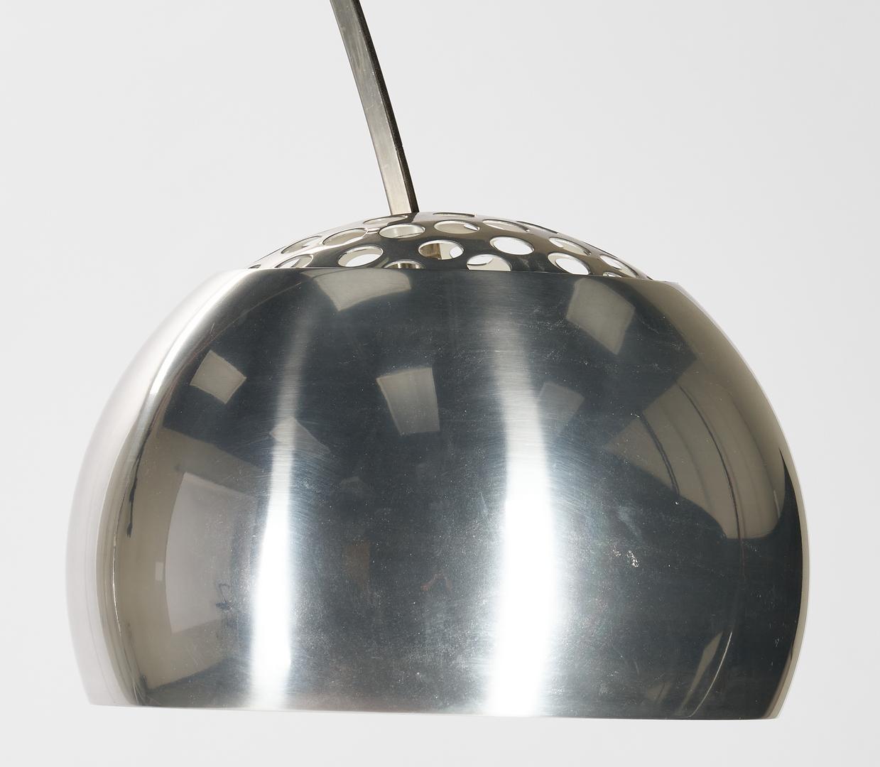 Lot 607: Italian Castiglioni Arco Floor Lamp w/ Marble Base, Mid-century