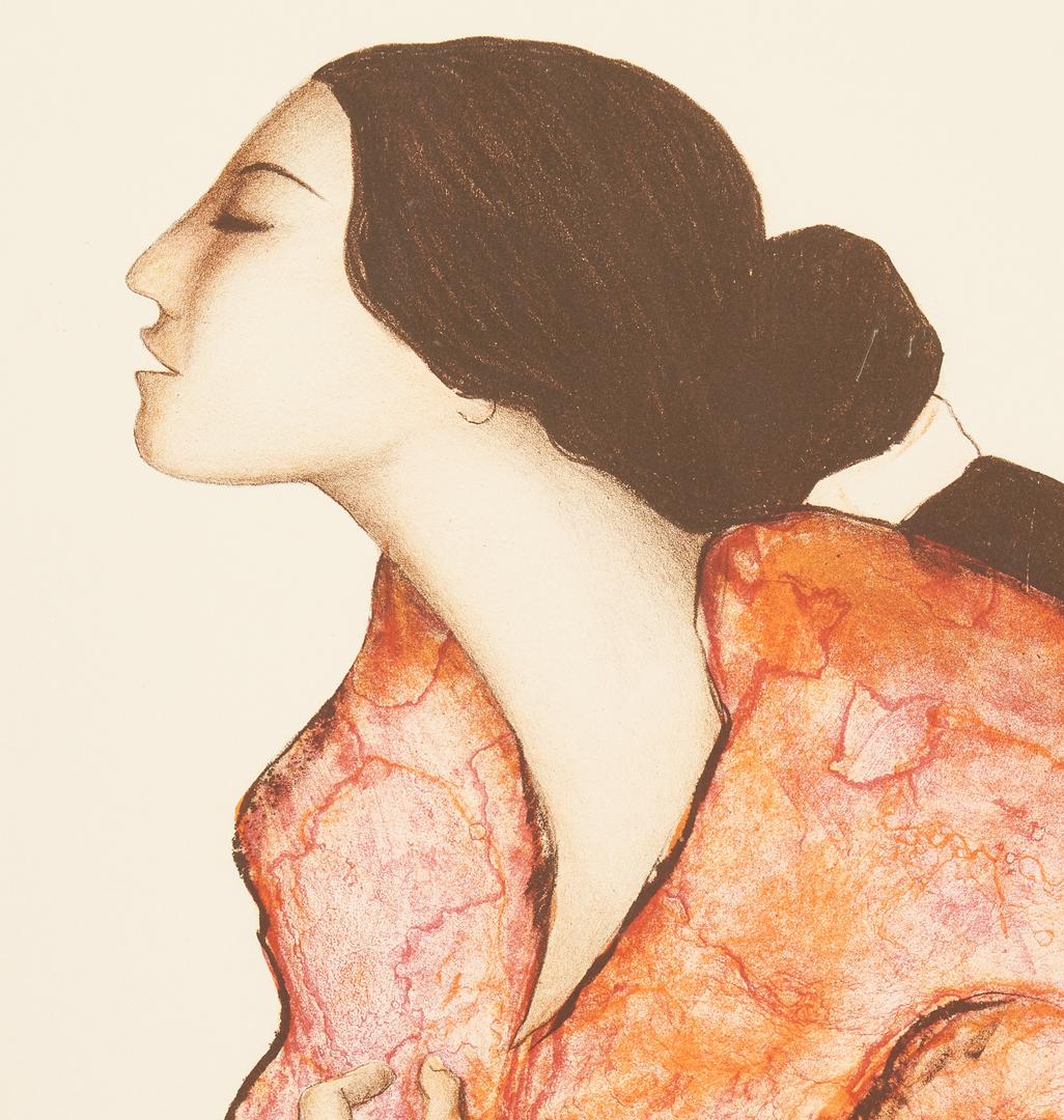 Lot 628: R.C. Gorman Native American Color Lithograph, Woman in Profile