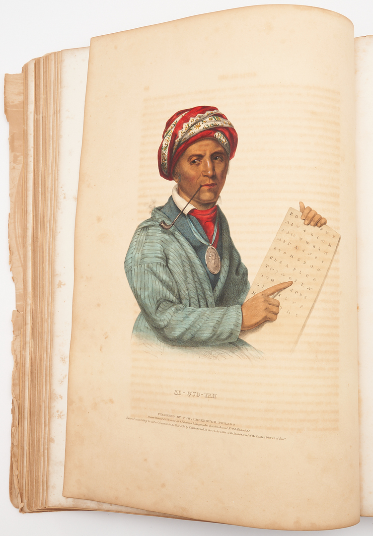 Lot 629: McKenney & Hall, Indian Tribes of N. America Vol. 1, 32 plates