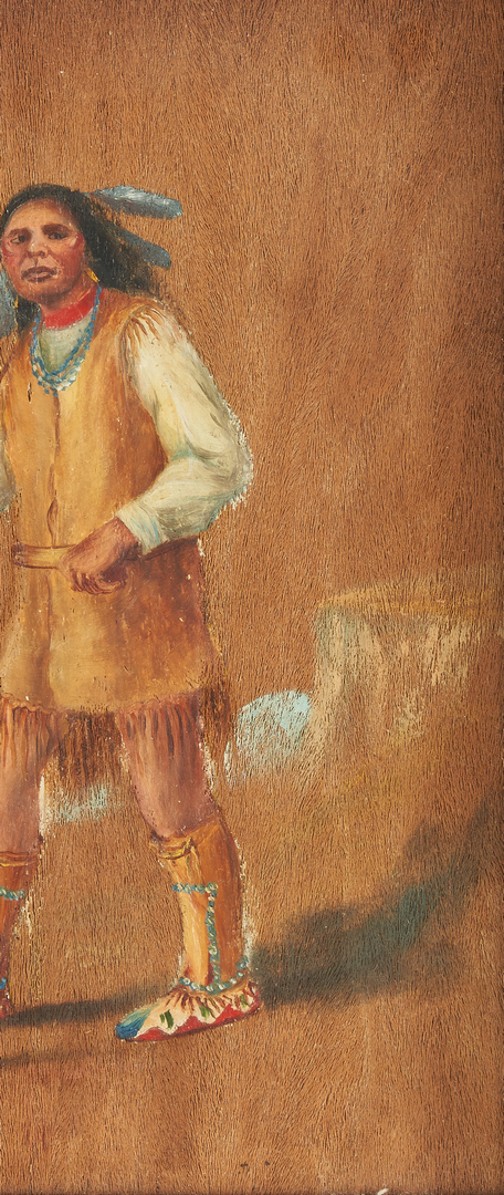 "Lot 630: Native American O/B, ""Yucca Palm, Apache Indian"""