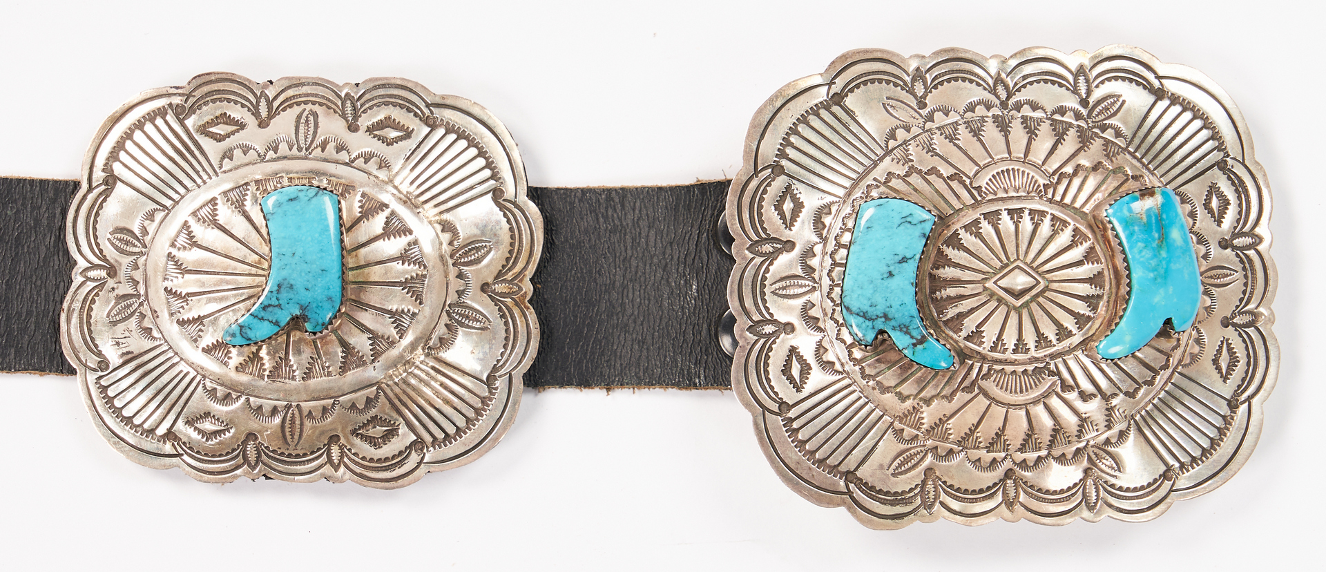 Lot 635: Native American Concho Belt, Terry Charlie