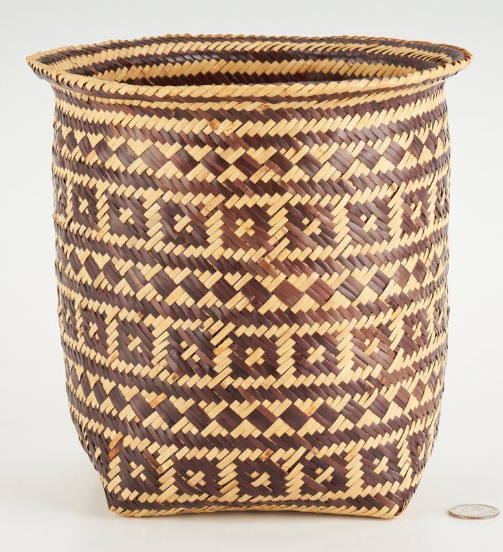 Lot 653: Choctaw Double Weave Rivercane Basket