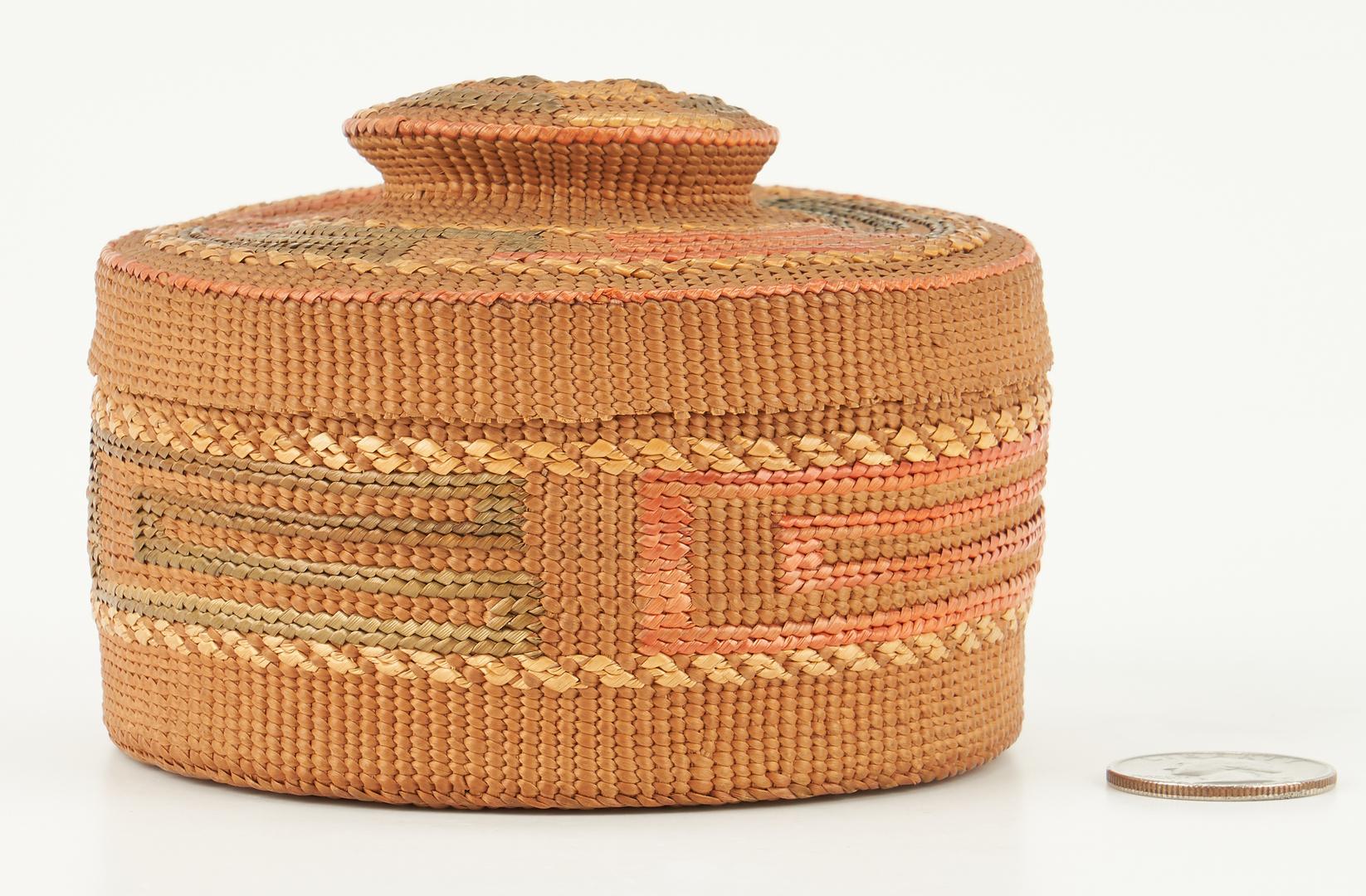 Lot 661: NW Native American Tlingit Rattle Top Basket