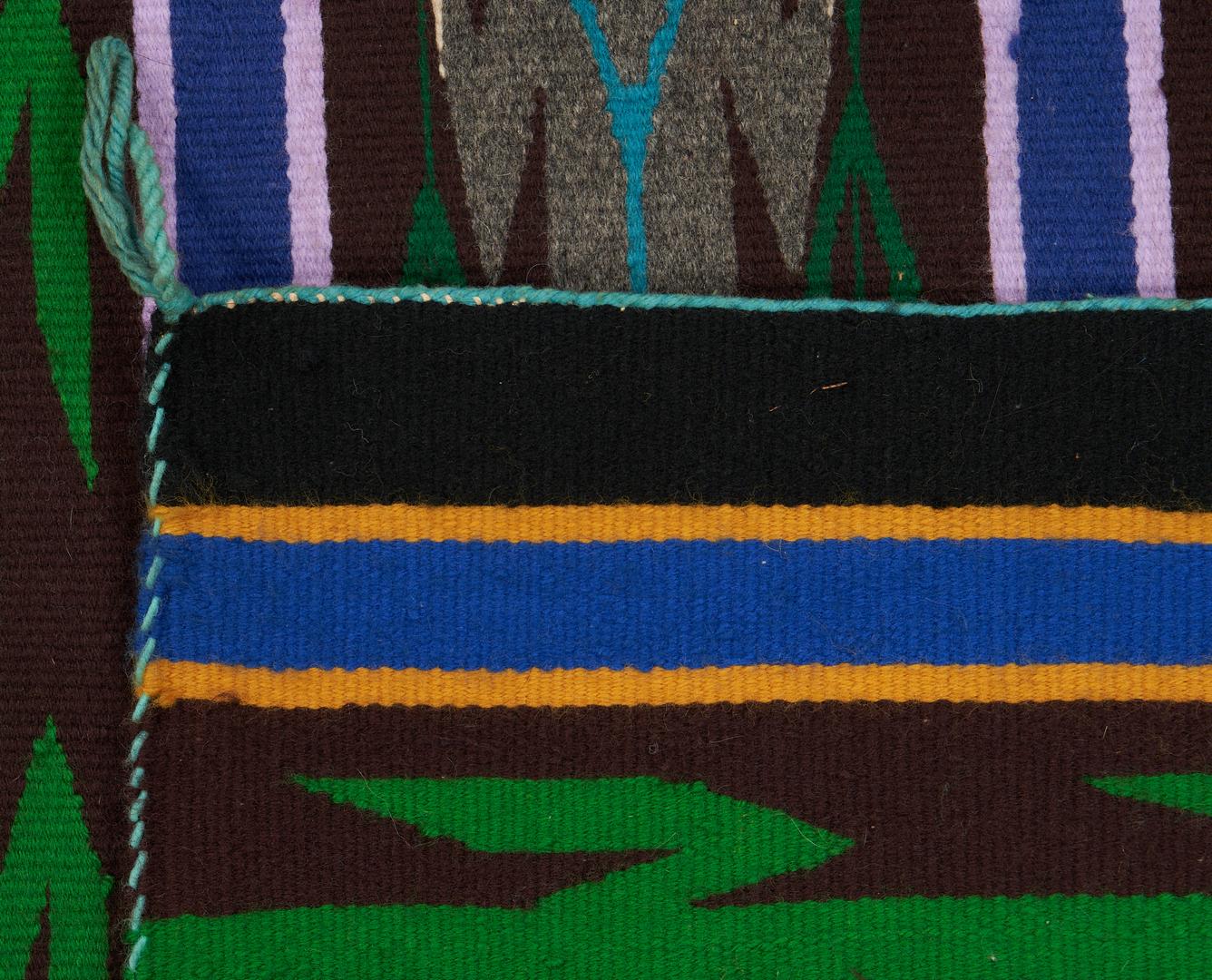 Lot 662: 2 Native American Navajo Rugs, Yei & Eye Dazzler
