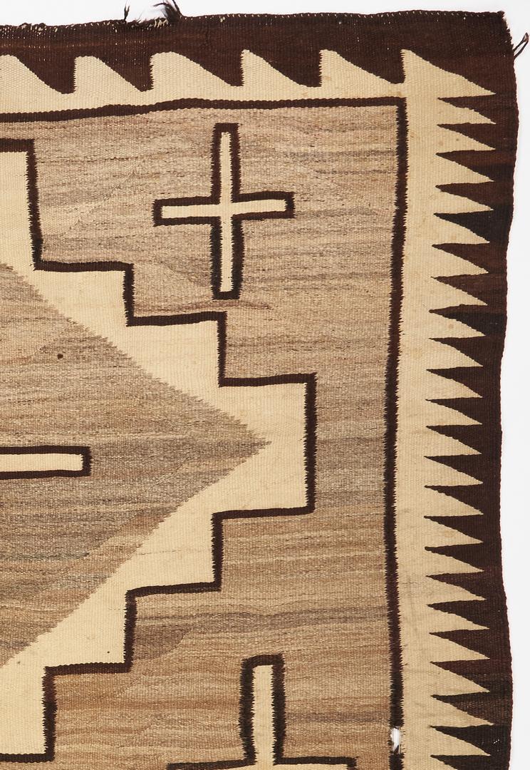 Lot 663: Native American Navajo Rug or Blanket, Two Grey Hills w/ Crosses