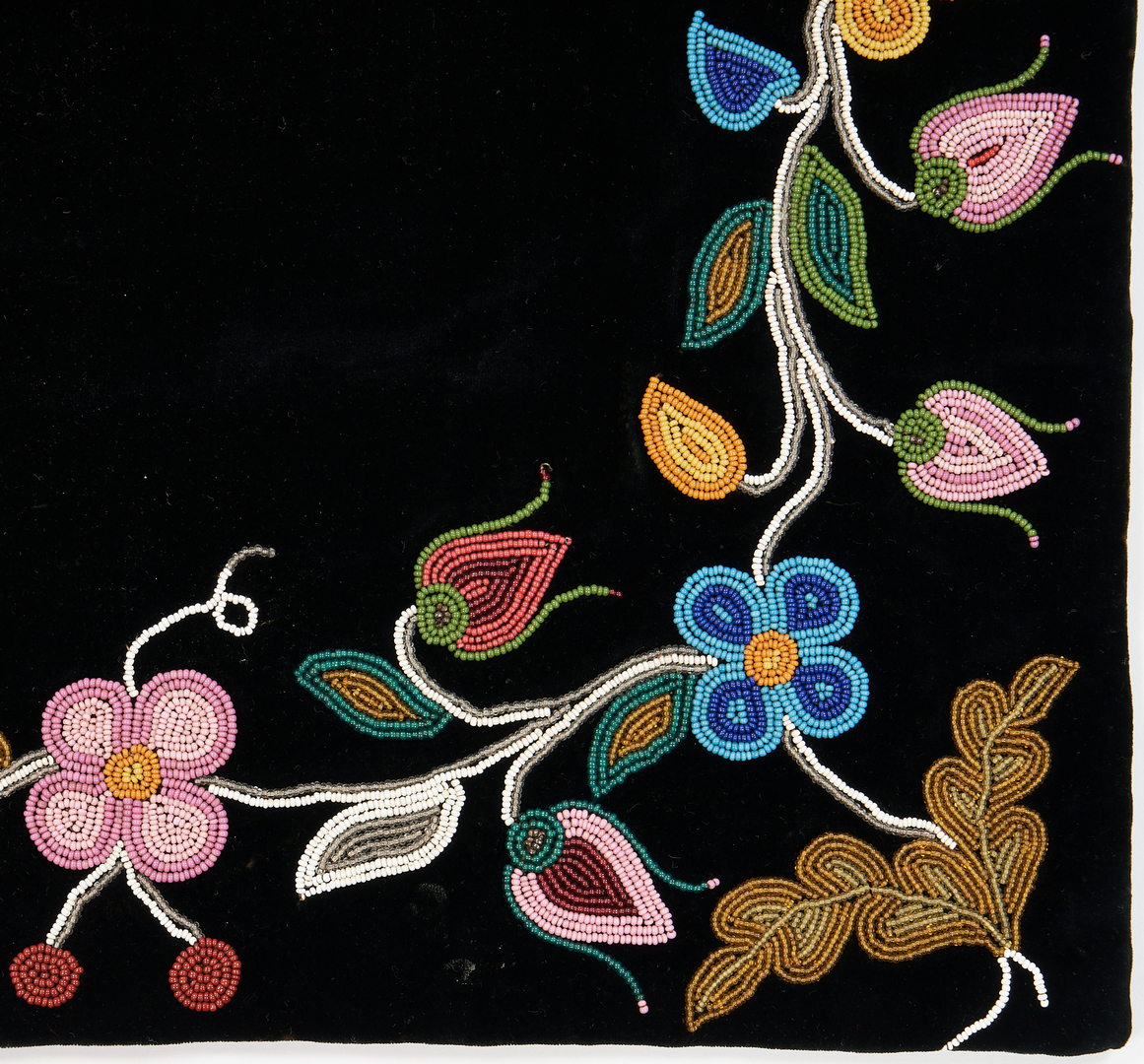 Lot 664: 3 Native American Textiles, incl. Plains Beadwork