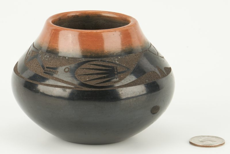 Lot 668: San Ildefonso Pottery Jar by Tony Da