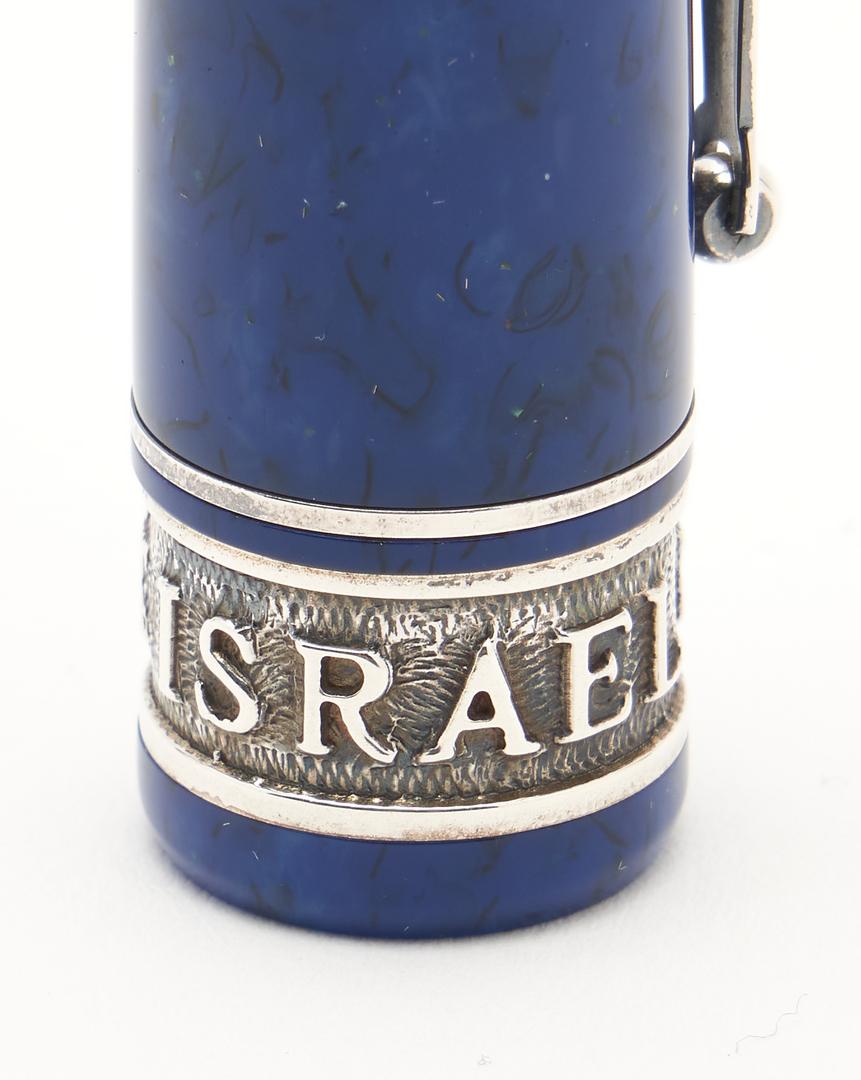 Lot 66: 2 Israel 50th Anniv. Fountain Pens, incl. Omas