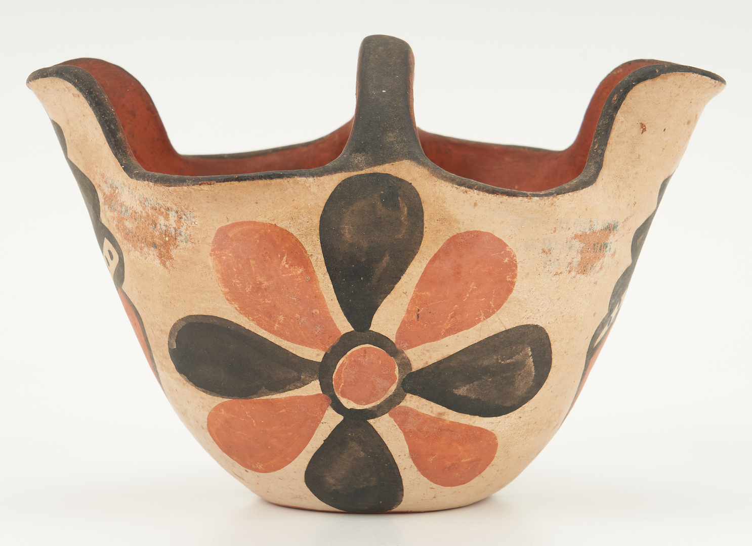 Lot 672: 2 Native American Pottery Items, Bowl & Pitcher
