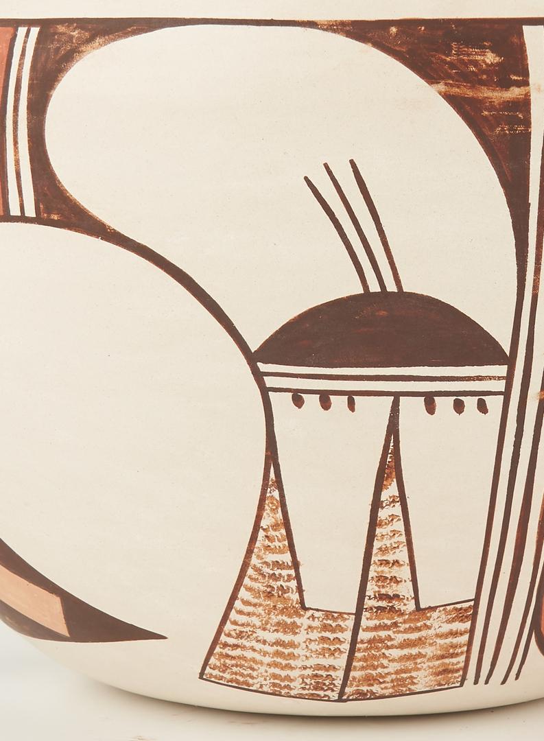 Lot 675: 4 Native American Hopi Pottery Items