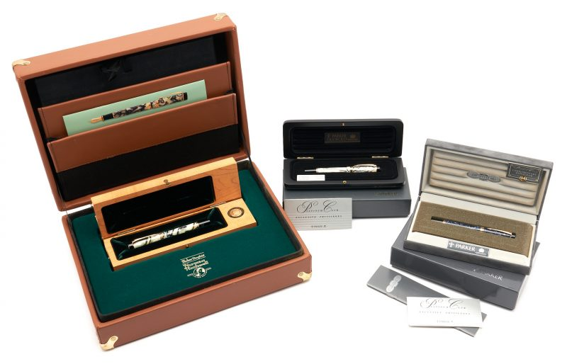 Lot 68: 3 Parker Duofold Fountain Pens, incl. N. Rockwell