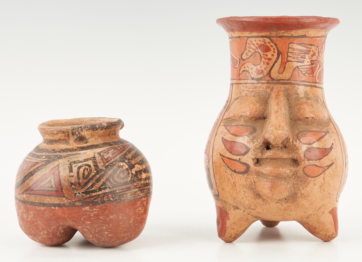 Lot 691: Pre-Columbian Panamanian Cocle Small Tripod Jar