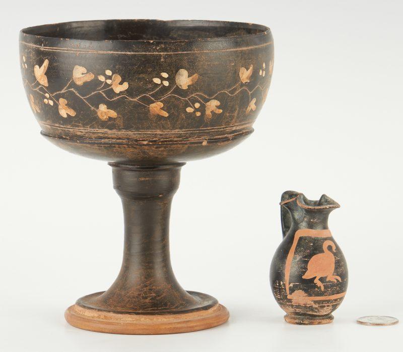 Lot 698: 2 Ancient Greek Apulian Xenon Ware Vessels