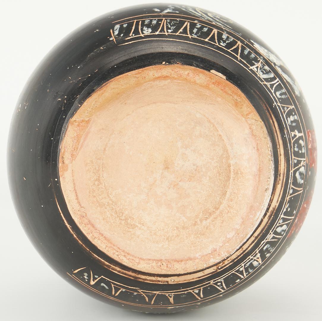 Lot 699: Ancient Greek Gnathian Apulian Blackware Lekythos, Winged Nike