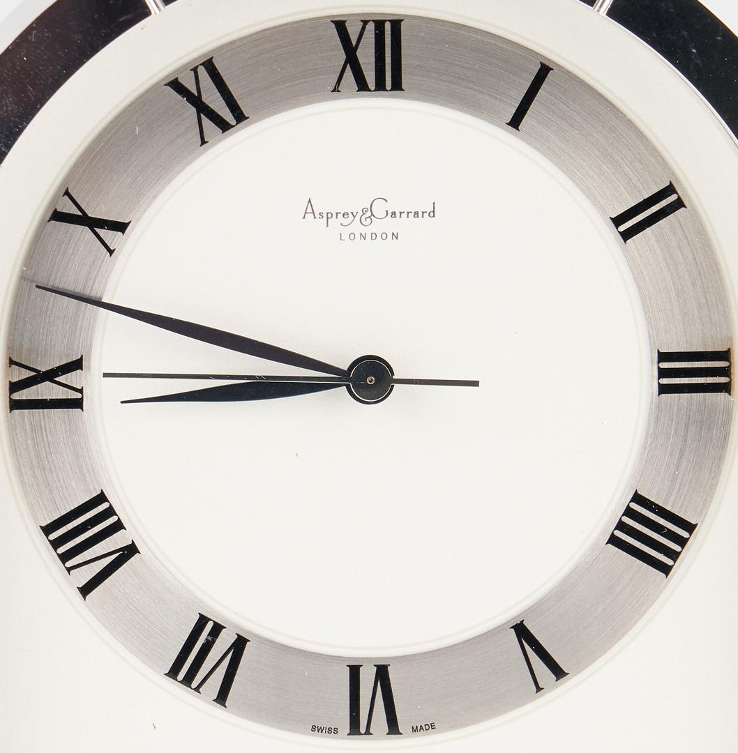 Lot 702: 3 World Time Desk Clocks, Asprey Garrard & Lavigne