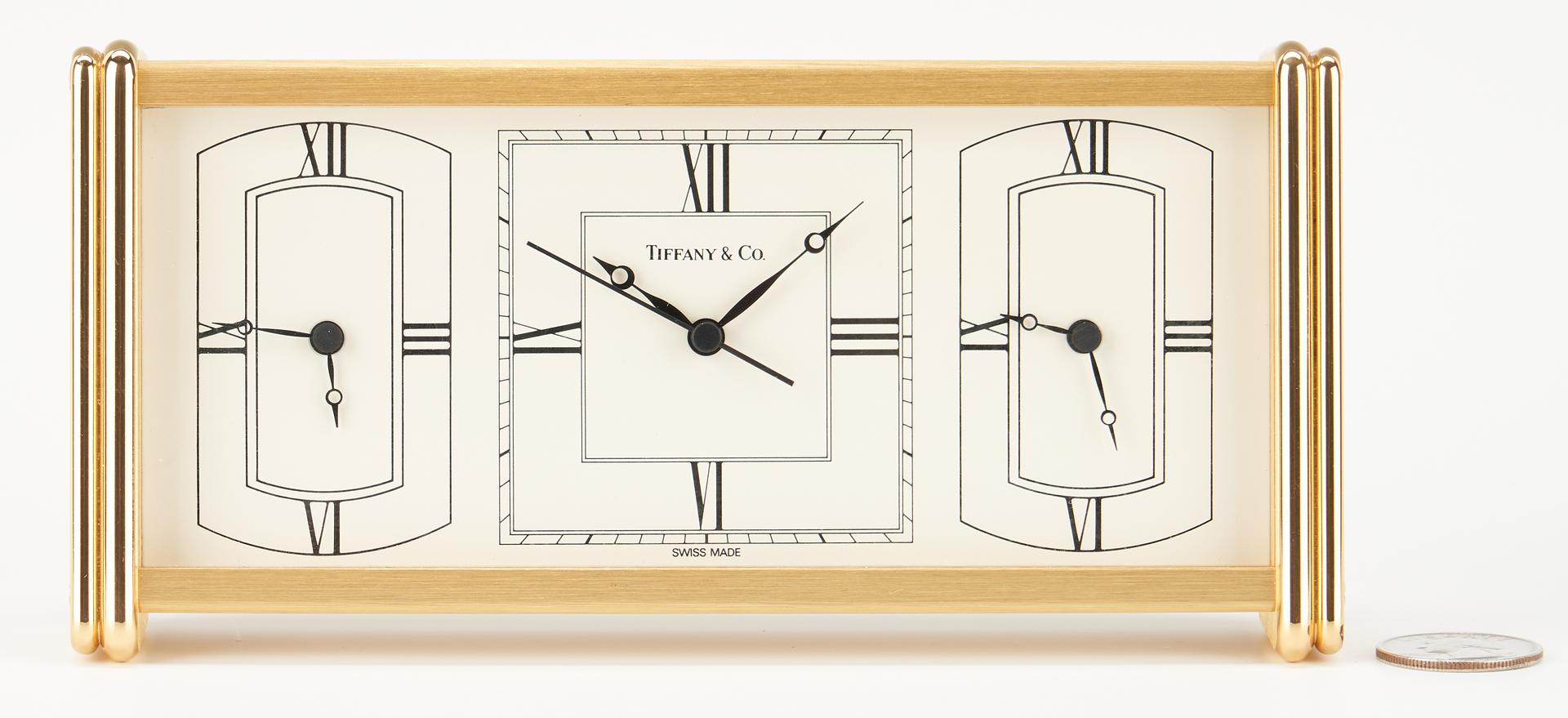 Lot 703: 3 Tiffany & Company Desk Clocks