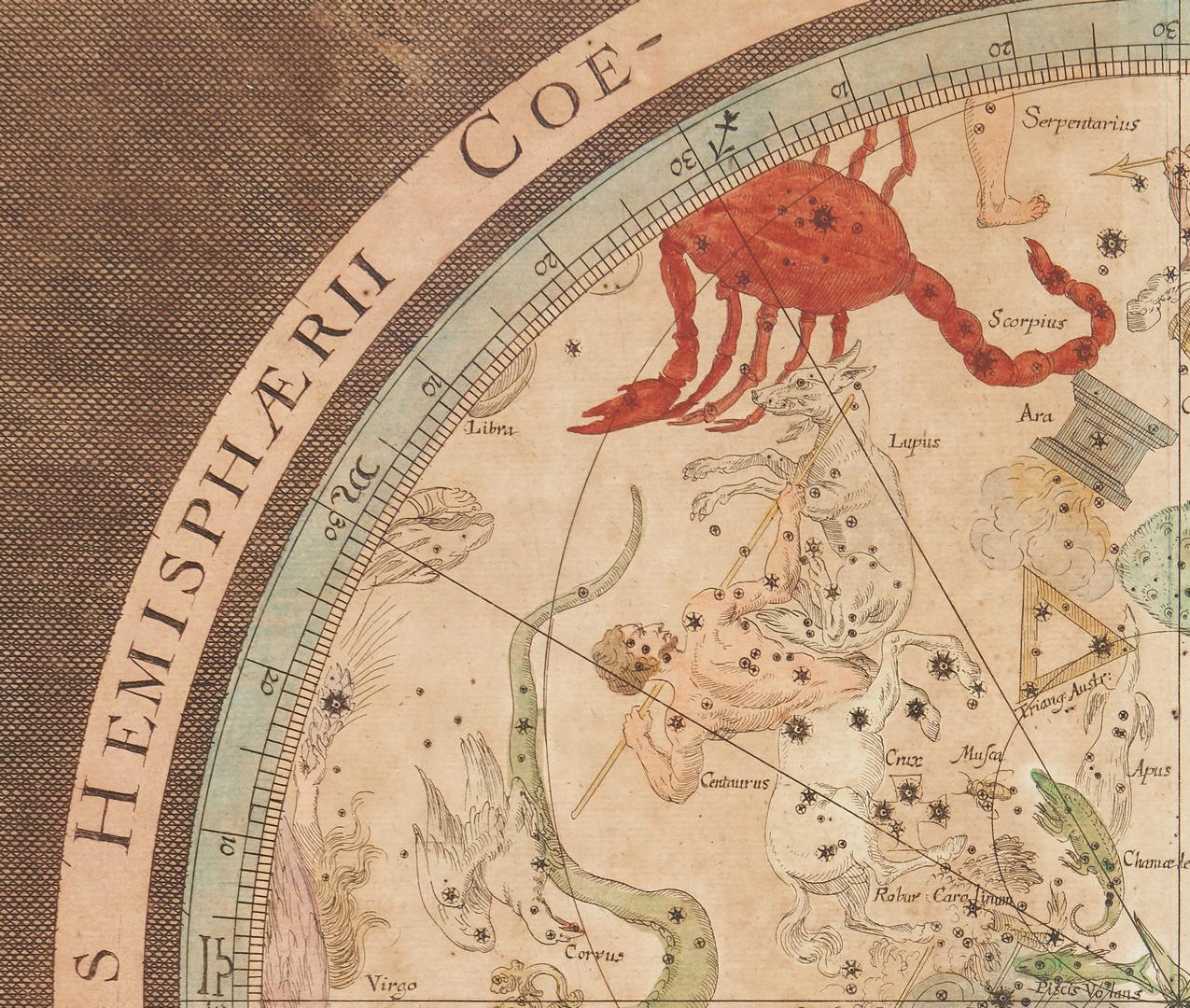 Lot 707: Pair of Baroque Celestial Maps, Johann Zahn