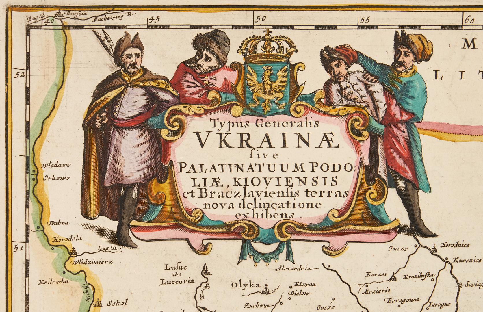 Lot 708: Map of Ukraine, M. Pitt, ca. 1685