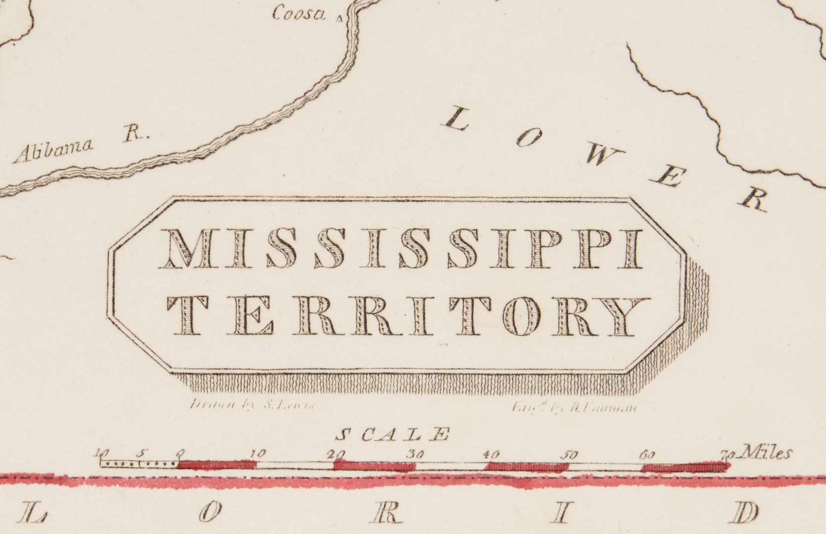 Lot 712: Mississippi Territory Map, S. Lewis, 1812