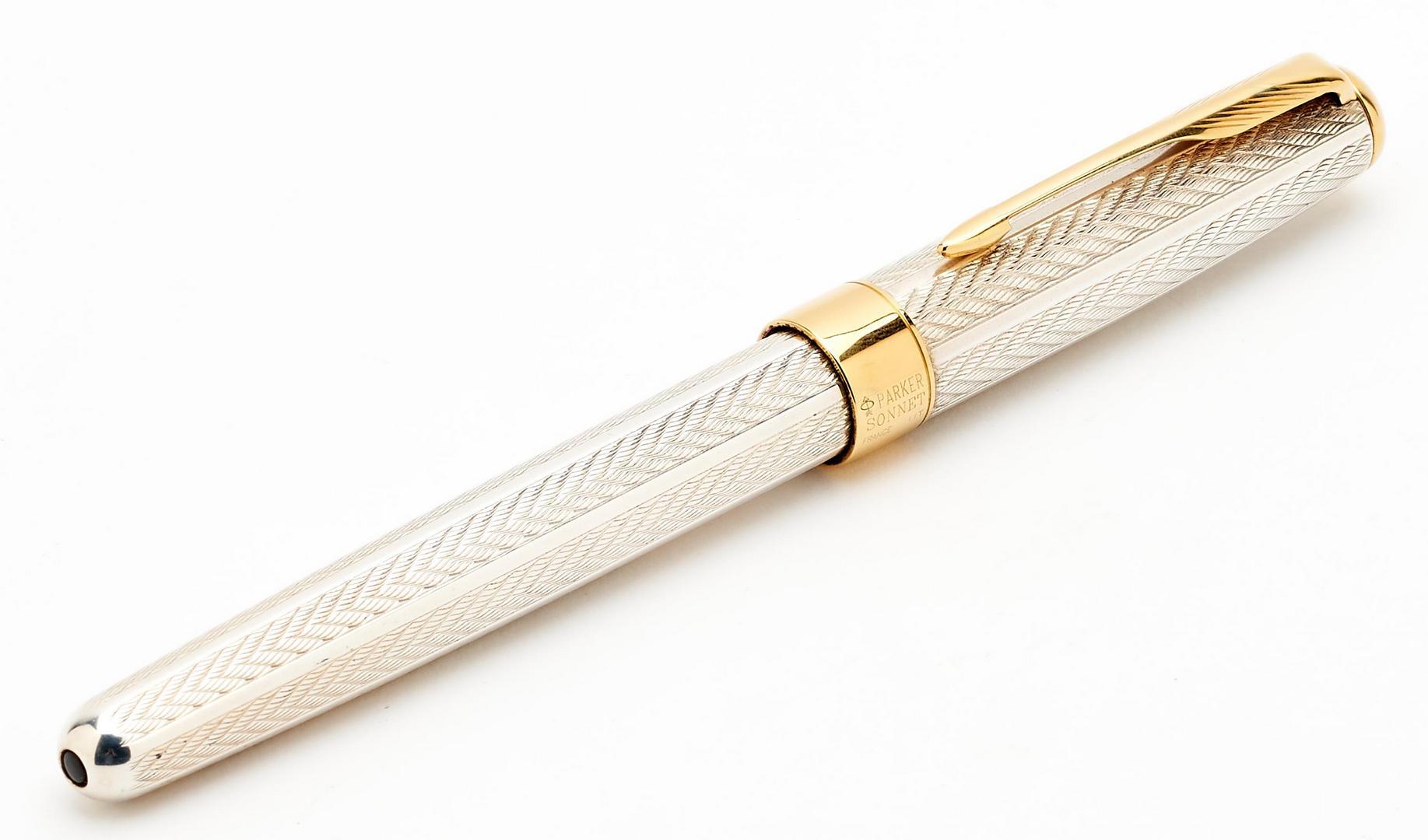 Lot 71: 5 Parker Pens & Pencil, incl. Mandarin Yellow