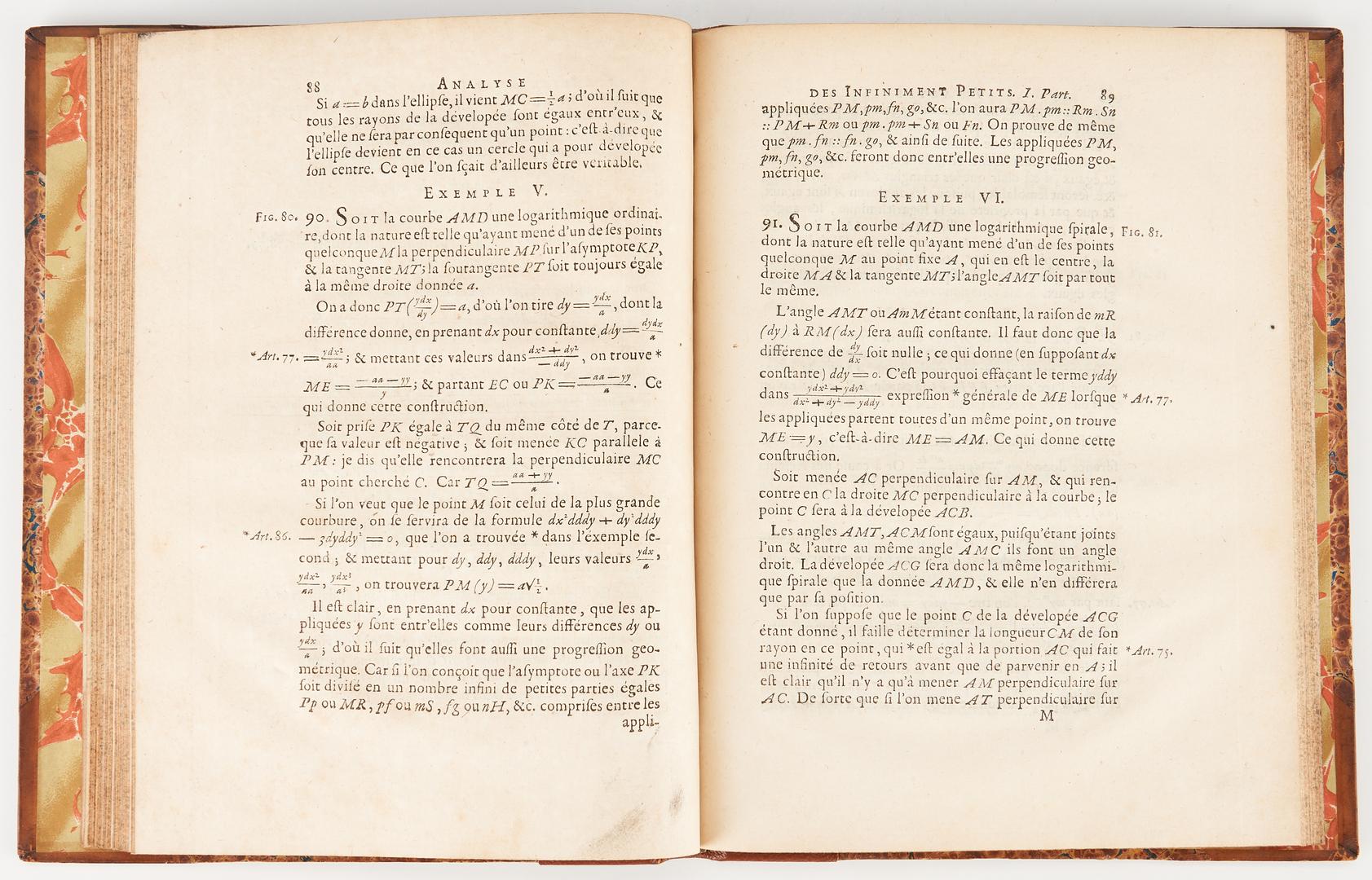 Lot 720: L'Hospital, Analyse Des Infiniment Petits, 2nd Ed., 1716