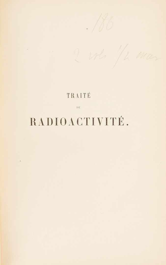 Lot 721: 2 Science Books, incl. Newton's Philosophy, Marie Curie