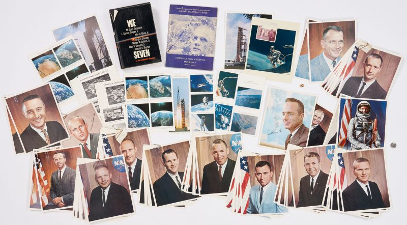 Lot 724: NASA Astronaut Related Archive with autographs, 89 items