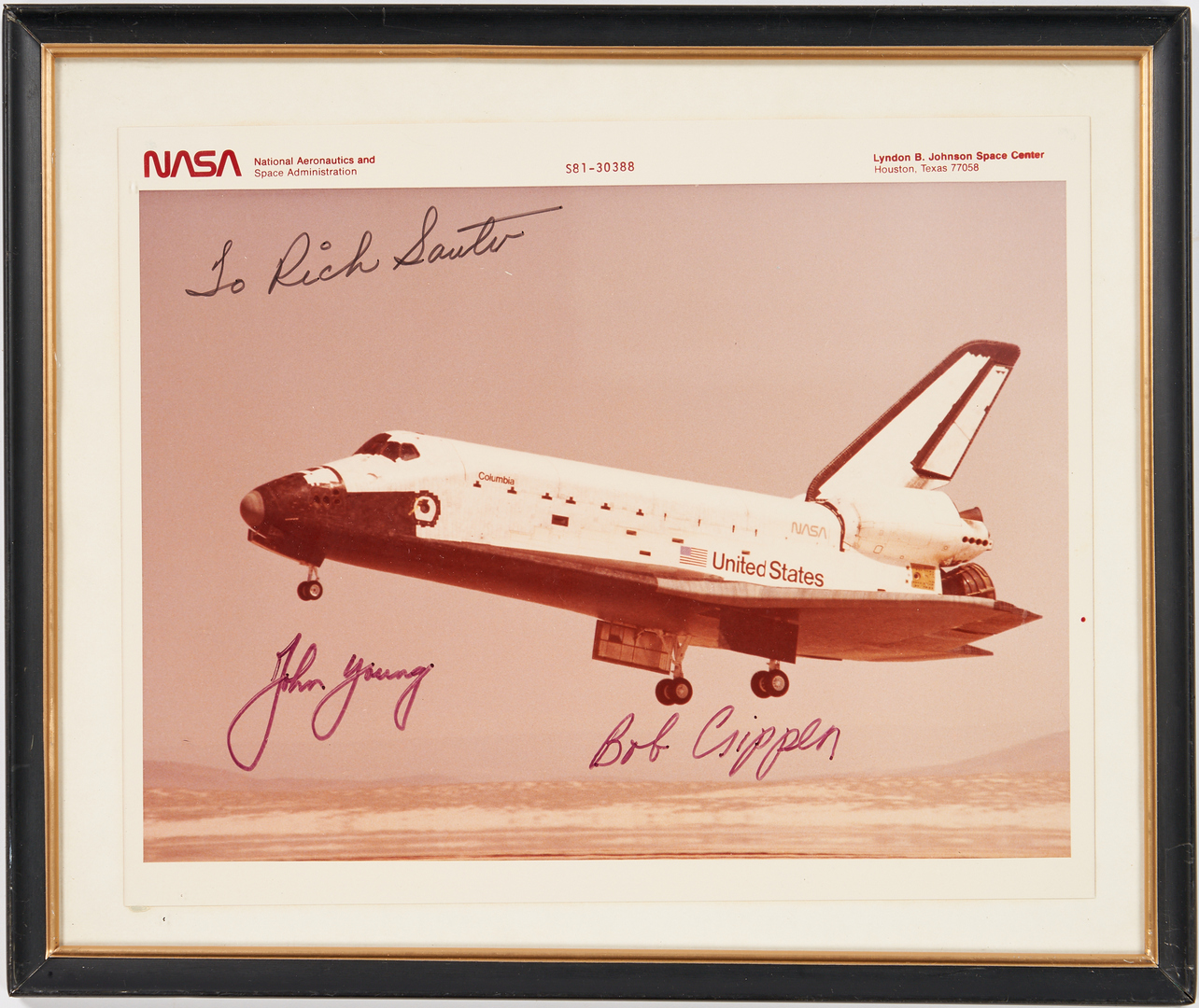 Lot 725: Columbia STS-1 Archive, incl. Flown Artifacts