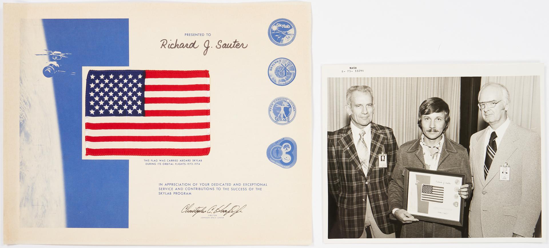 Lot 726: Richard J. Sauter NASA Archive, incl. Flown Flags