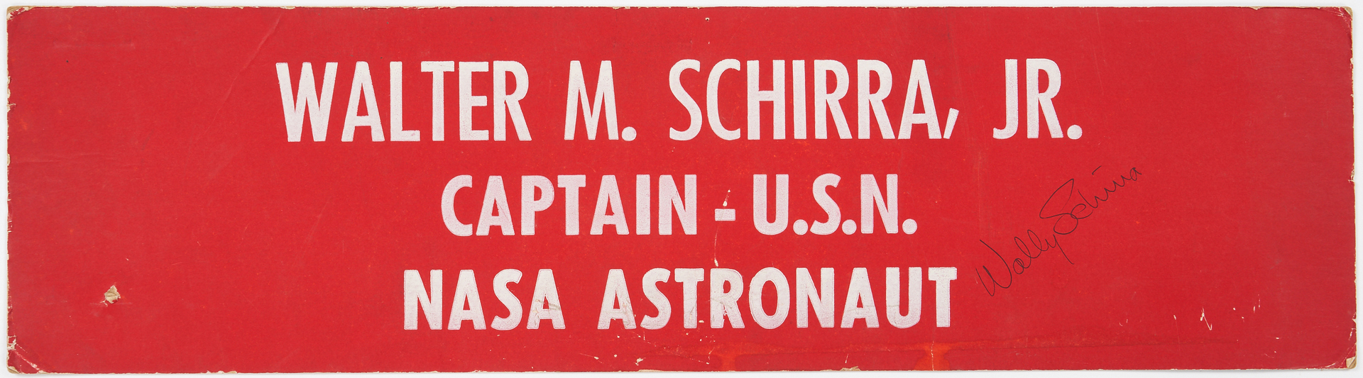 Lot 728: 3 NASA Astronaut Signed 1967 Meet the Press Placards