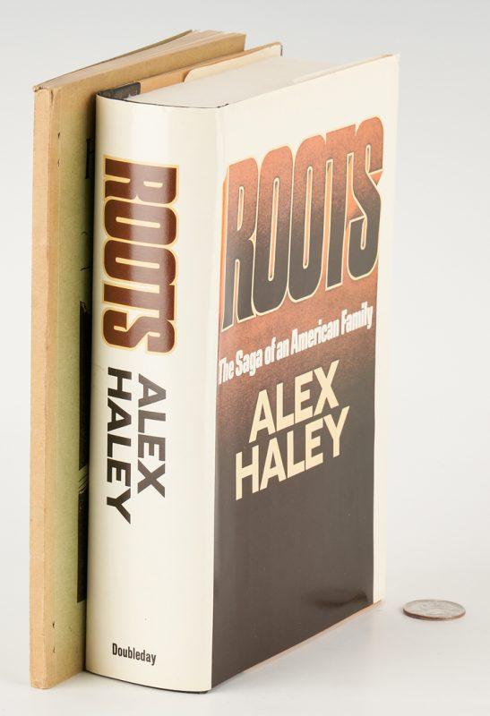 Lot 731: Signed Alex Haley ROOTS & J. Will Taylor Bio., 2 items