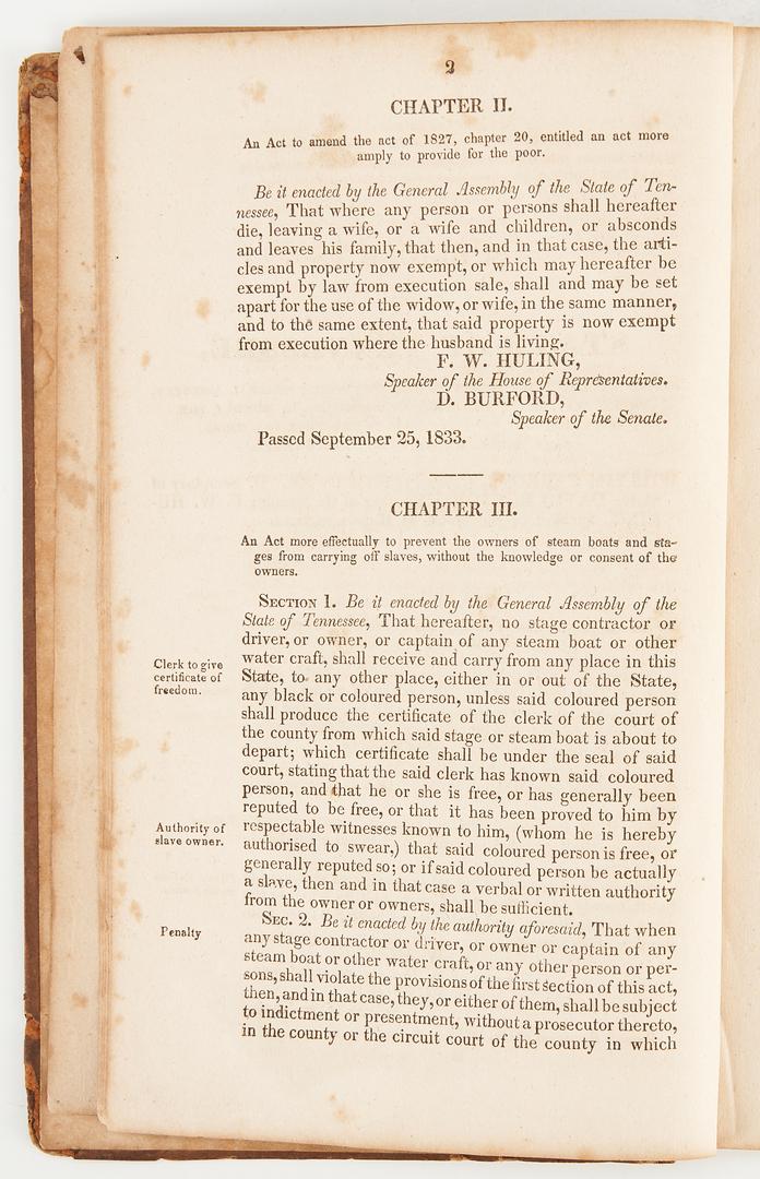 Lot 735: 9 Nashville Related Publications, incl. Tax Ledger, Legal Books