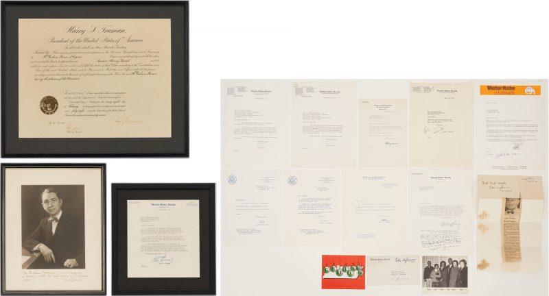 Lot 738: H. Graham Morison Archive, incl. Harry S. Truman Signed