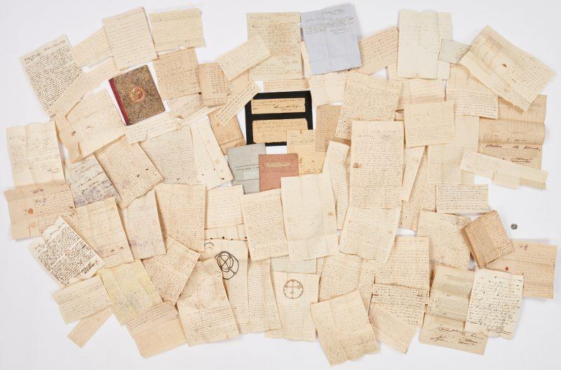 Lot 741: Green Family, Culpeper, VA  Document Archive, 80 items incl. Texas, Slave, Navy interest