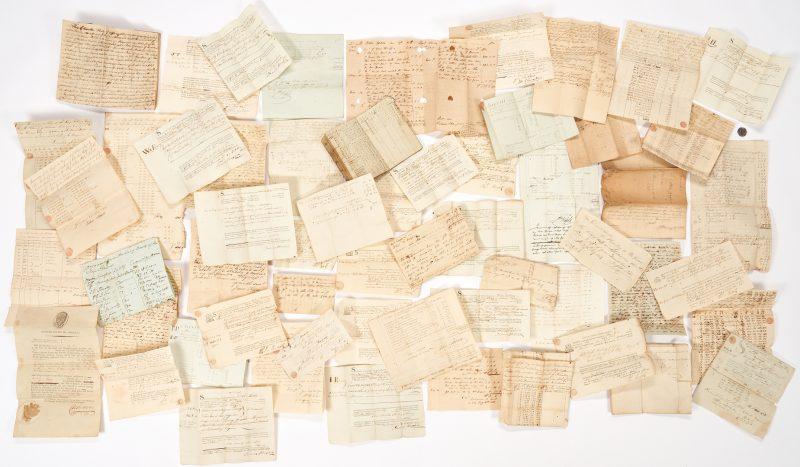 Lot 742: Peter Gordon & Fabius Ship Archive, 58 items
