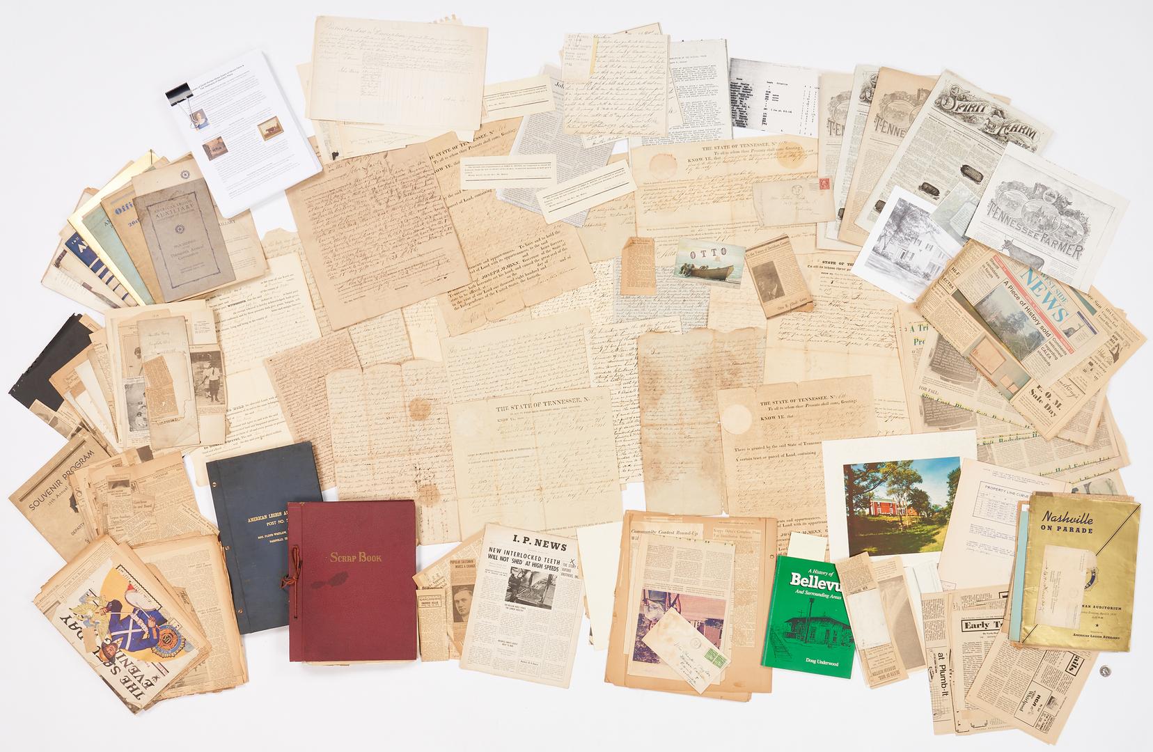 Lot 743: Large Davis Family & Devon Farm Archive, incl. James K. Polk Signed