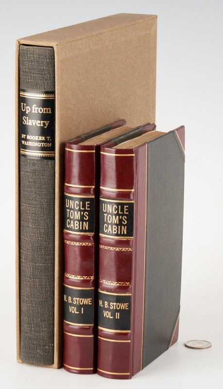 Lot 749: 3 African-American Related Books, incl. Uncle Tom's Cabin, 1st Ed.