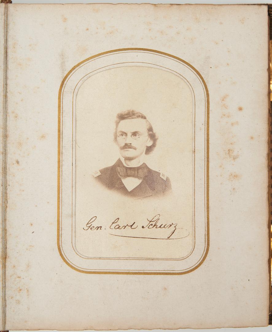 Lot 752: Civil War CDV Album, incl. Presidents, Union & Confederate Leaders
