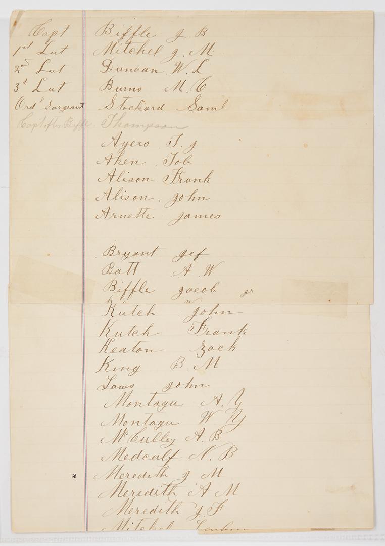 Lot 755: Civil War Joseph Meredith Archive, TN, incl. Badge, Johnston Parole Document