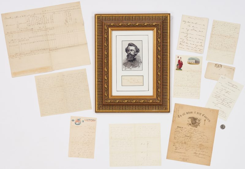 Lot 756: Civil War Related Archive, incl. Sheriden ALS