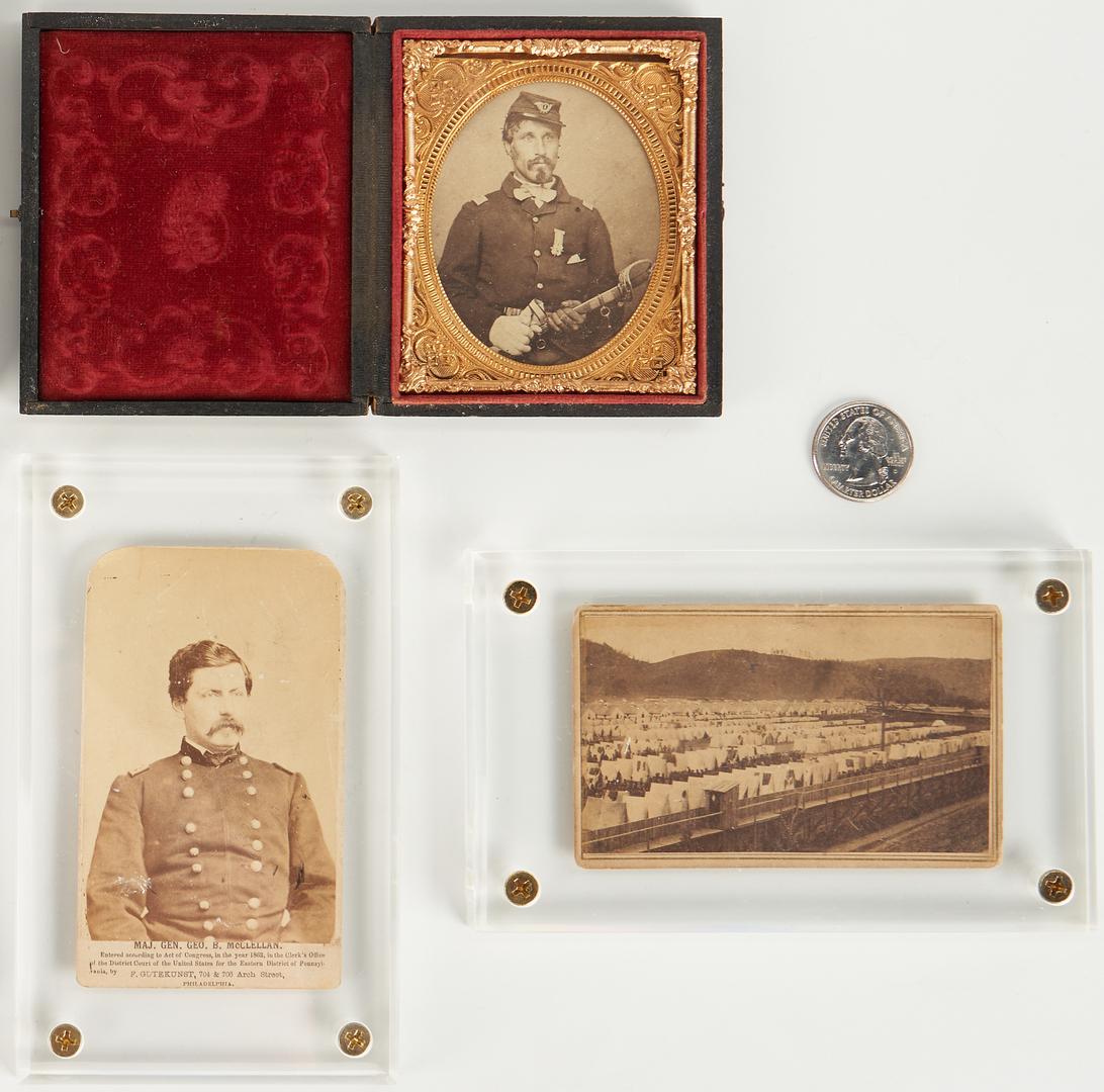 Lot 757: 7 Civil War era Photographs, incl McClellan