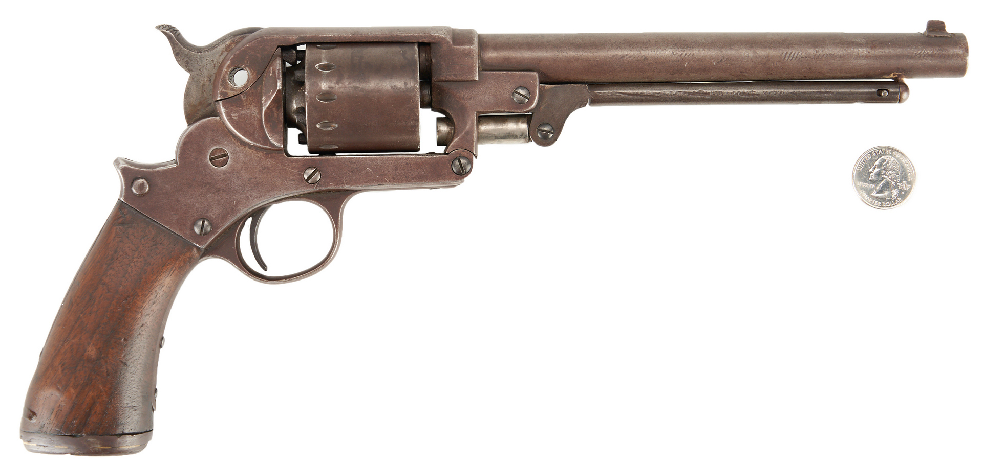 Lot 763: Civil War Starr Army Model 1863 Revolver, .44 cal. Unmarked
