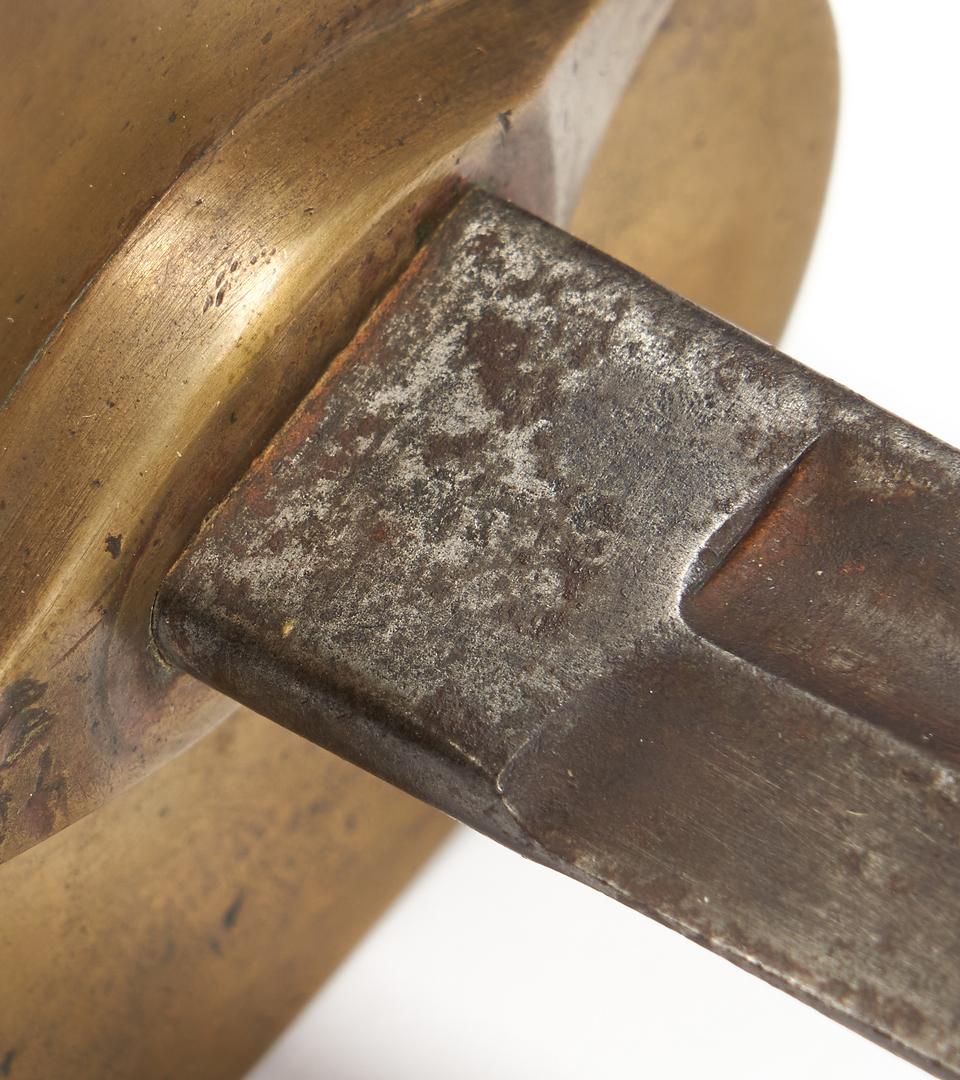 Lot 764: Edged Weapons incl. 2 Civil War era, Swords & Bayonet