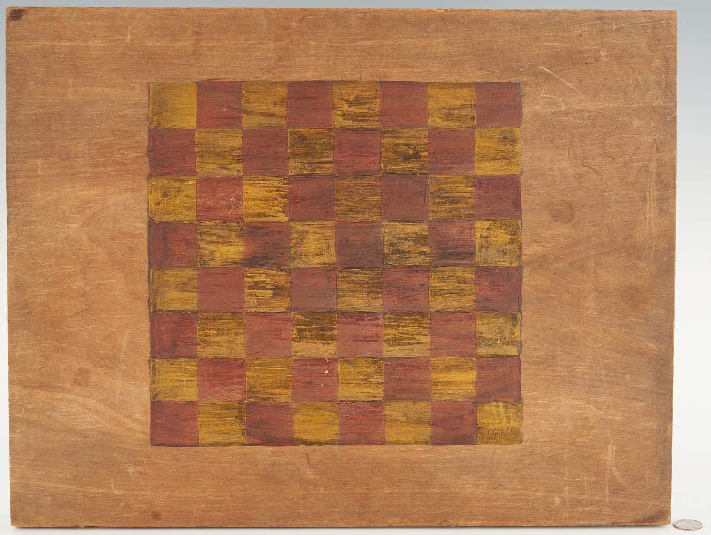 Lot 771: Civil War Checkerboard, Pvt. J. Witham Jr, 27th Maine